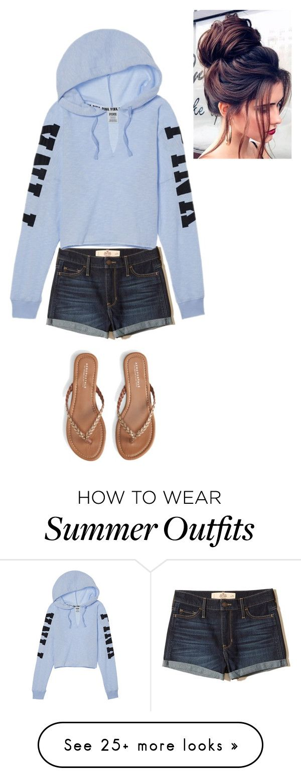 """Summer Outfit"" by jillianmccallion on Polyvore featuring Hollister Co. and Aéropostale"