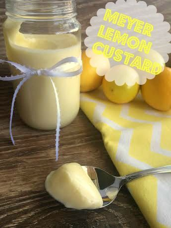 Meyer Lemon Custard.  A sweet, tangy delight!  Easy to make!  Can be used as a filling, or just to eat!! {House of Yumm}