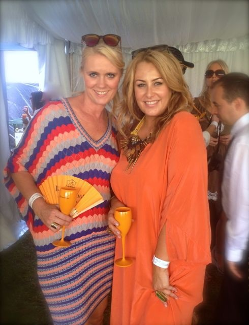 Claire Parviz, Editor of Style Mag and me - the matchy matchy colours of our dresses was a pure coincidence - really! My kaftan was from White Label Noba and it was the perfect simple backdrop for the amazing Salita Matthews necklace!