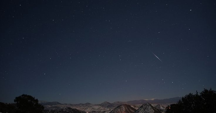 The Quadrantids meteor shower peaked Saturday night as up to 80 meteors per hour appeared to rain down.