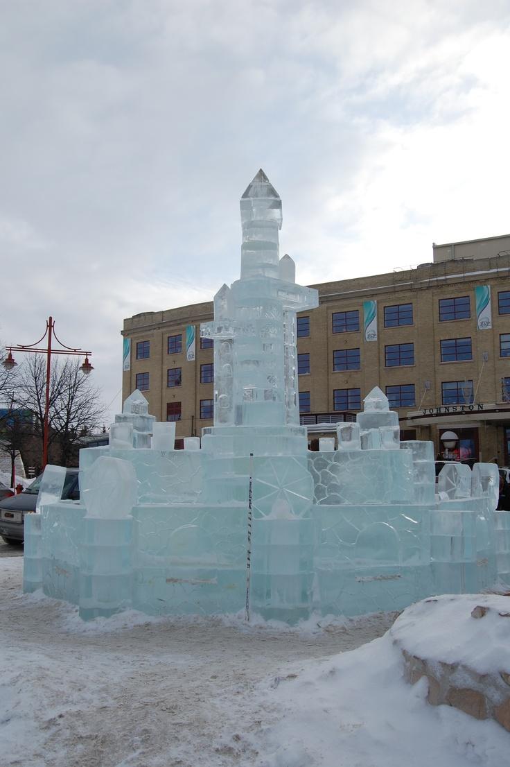 The Forks, an ice sculpture. Winnipeg, Canada. A.D.Bessette
