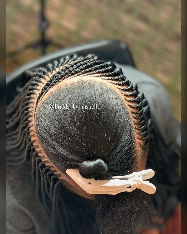 Middle Layer Of A Side Part 3 Layered Tribal Braid Style