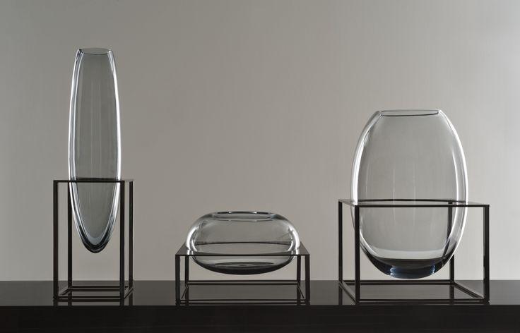 Fendi Cube Vase Collection. Designed by Gabriella Asztalos, made of Murano Glass. Luxury Vase