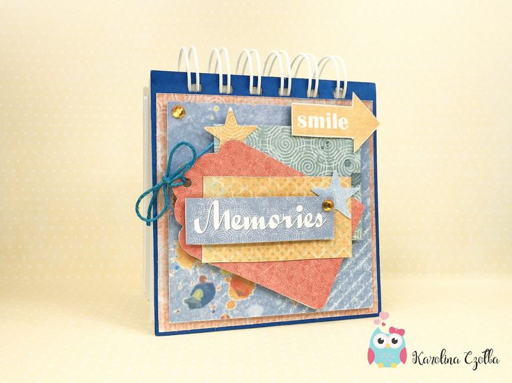 mini notesik scrapbooking
