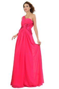 Elegant Women's Sequins Empire One Shoulder Strap Long Dress