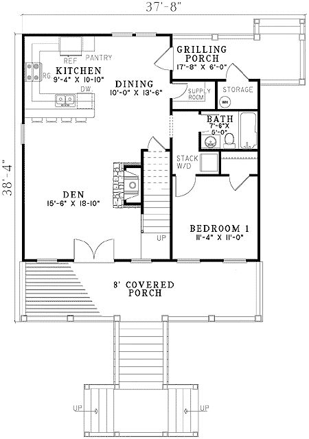 103 best images about house plan layouts on pinterest for Raised cottage house plans