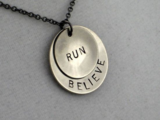 Running Jewelry  BELIEVE in YOUR RUN Necklace  by TheRunHome, $19.00