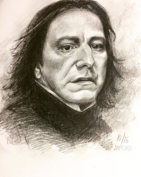 Practice! snape by jamcara by Jamcara #ink #sketch #illustration #drawing #dibujo # realism #snape #harrypotter #art