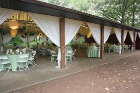 This is the reception site    Rutgers Garden Log Cabin & Alumni Pavilion.    We will have to do some major dressing up to make it look regal.