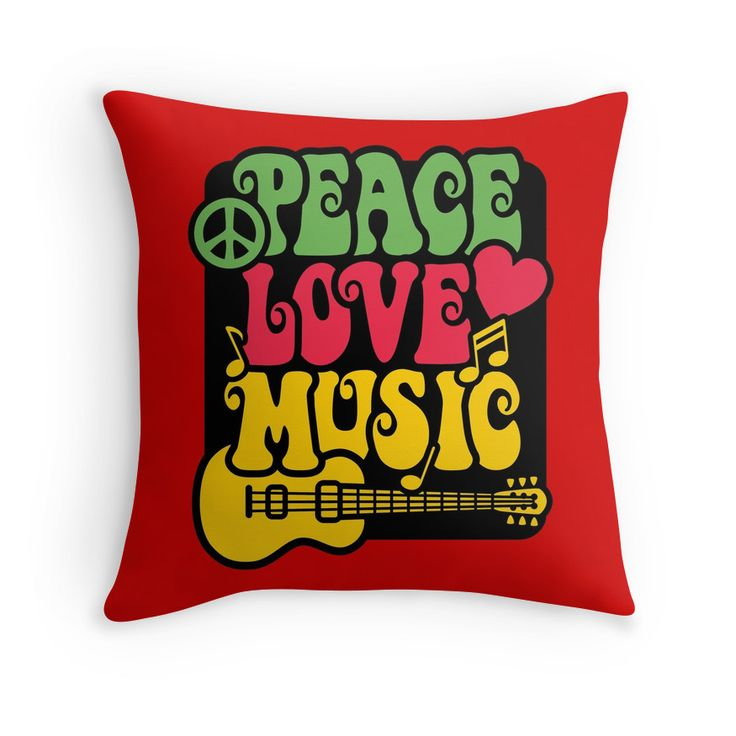 Peace, Love, Music in Rasta Colors