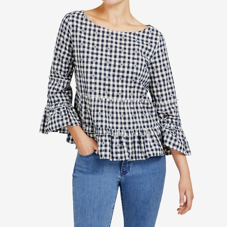 New Arrivals   Gingham Peasant Blouse. #frenchconnectionau #fcuk