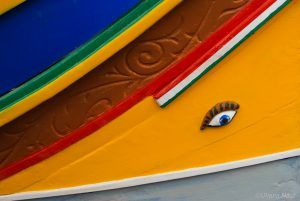 Details of a traditional Maltese fishing boat