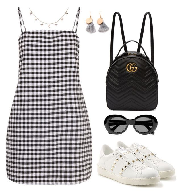 """""""Untitled #2337"""" by andreagm ❤ liked on Polyvore featuring Gucci, Valentino, Acne Studios and Luna Skye"""