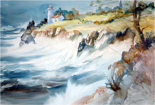 ЛитКульт — Морские волны и акварель. Работы Arnold Lowrey