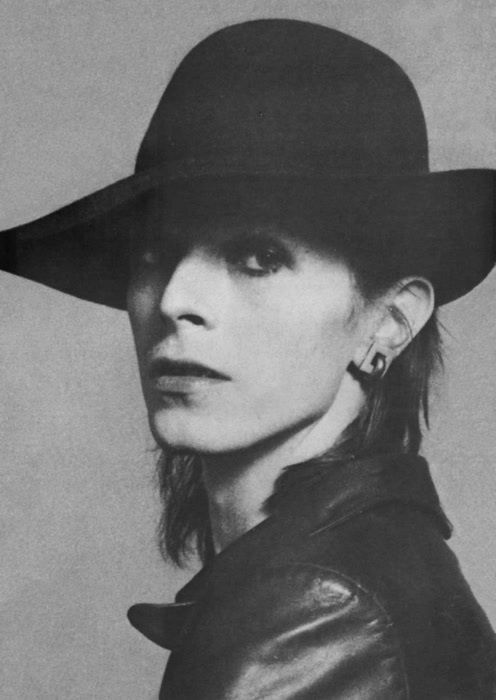 Bowie.... now I know why they put that hat on Brian Fairy in Velvet Gold Mine