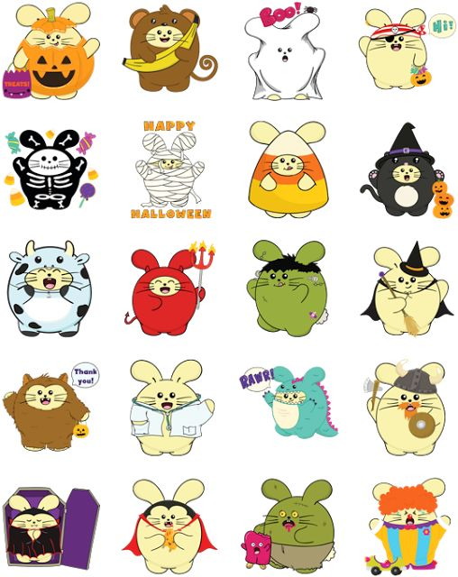 Fat Rabbit Halloween & Free Birds Arrive on Facebook Sticker Store - BNLMAG