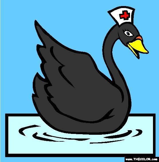 nurse swan online coloring page