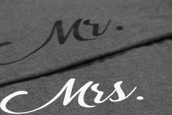 Mr. & Mrs. couples package of matching tee-shirts.  Great gift for the newly weds!!  High-quality BELLA+CANVAS 100% cotton FASHION style tee-shirts. From the BELLA+CANVAS website: This tee fits like a well-loved favorite, featuring a modern slim fit, classic V-neck, short sleeves and superior combed and ring-spun cotton that acts as the best blank canvas for printing. Offered in a variety of colours. Features: Sideseamed. Slim fit.   Your choice of 2 tee-shirts. Unisex or Womens fit…
