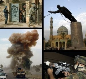 The Iraq War, or the War in Iraq (also referred to as the Occupation of Iraq, the Second Gulf War, or Operation Iraqi Freedom by the United States military), was a conflict that occurred in Iraq from March 20, 2003[41][42] to December 15, 2011,[43] though sectarian violence continues since and has caused hundreds of fatalities.