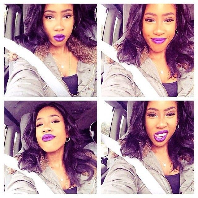 Sevyn Streeter's purple lips