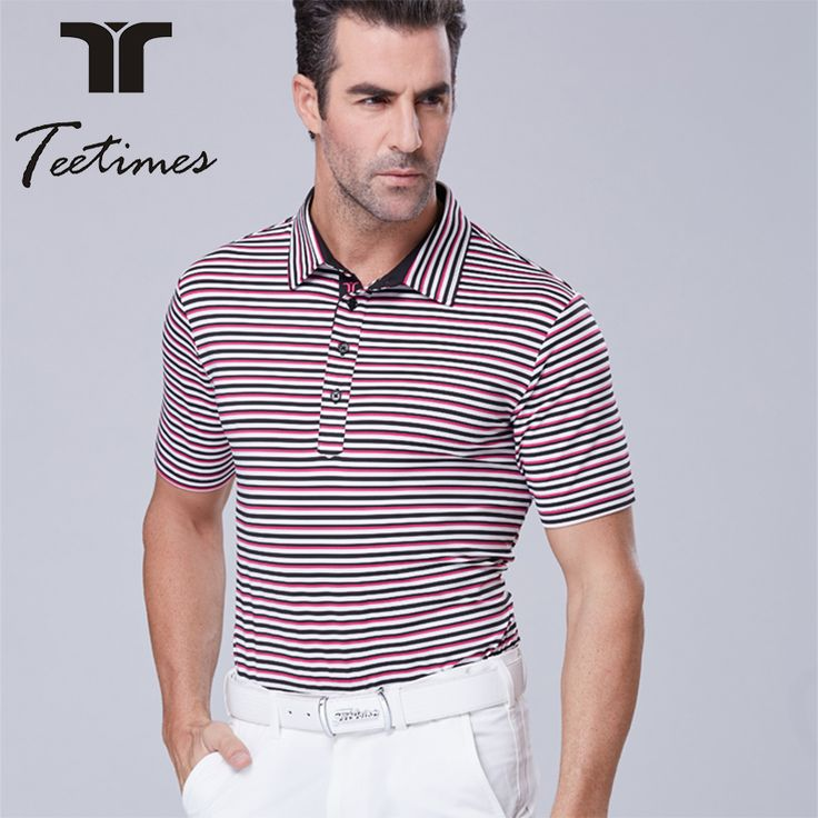 Golf Shirt autumn striped shirt Short Sleeves T Shirt Men's Polo Golf Clothes With 4 Color Men train short-sleeve sports shirts