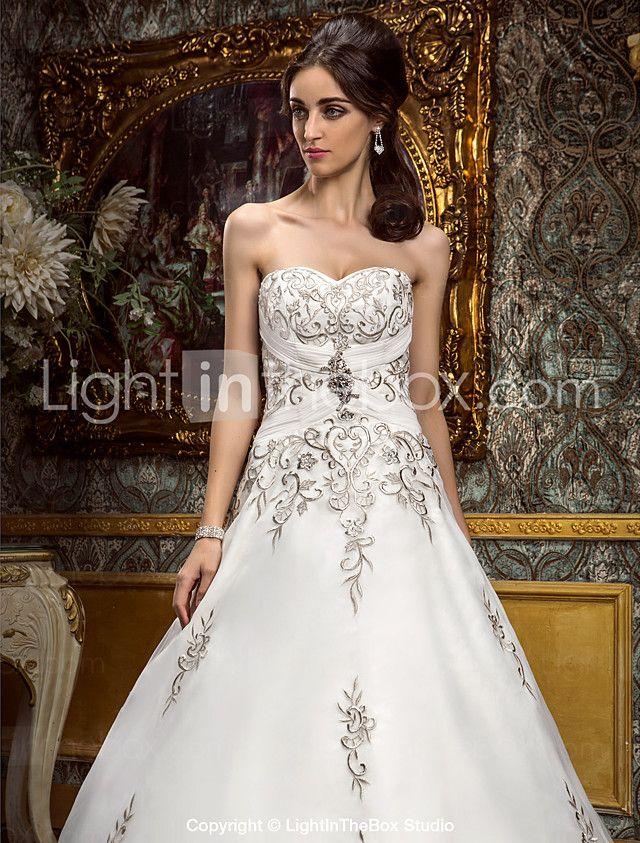 Lanting Bride® Corte en A Tallas pequeñas / Tallas Grandes Vestido de Boda - Clásico y Atemporal / GlamourosoInspiración Vintage / 2017 - $189.99
