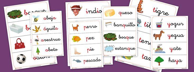 Fichas de vocabulario con imágenes