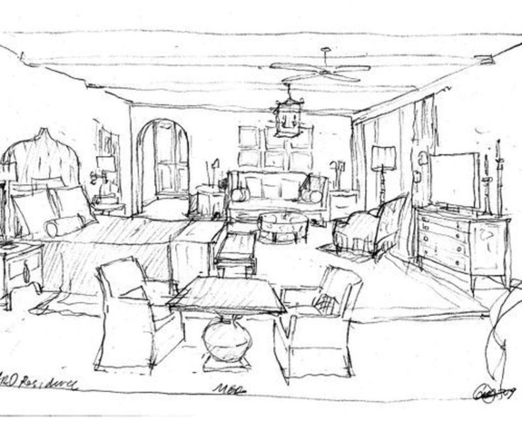 Bedroom Interior Design Ideas On Sketches For