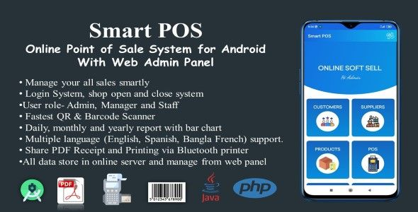 Smart Pos Online Point Of Sale System For Android With Web Admin Panel Point Of Sale Admin Panel Web Panel