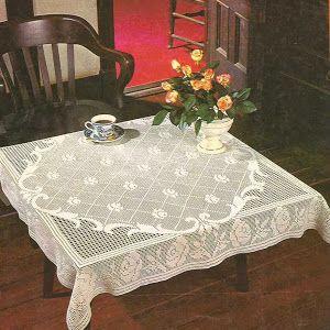 Patrón #443: Precioso mantel fácil de hacer a Crochet | CTejidas [Crochet y Dos Agujas]