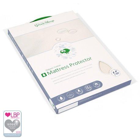 Organic Cot Bed Waterproof Mattress Protector 70x140cm | Cot Bed Mattress Protectors from The Little Green Sheep, UK