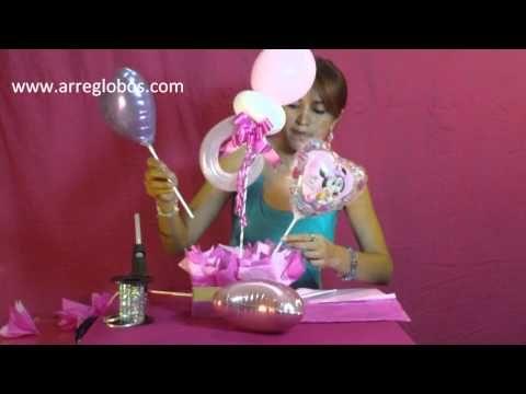 CENTRO DE MESA BABY SHOWER// MANUALIDADES DE VERO - YouTube