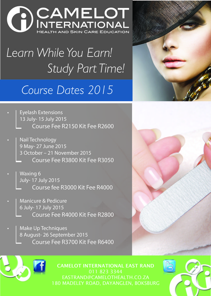 Earn while you learn with Camelot International East Rand Part Time Courses!  011 823 3344