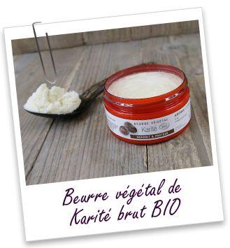 Beurre végétal de Karité brut BIO , 100ml 4 euros