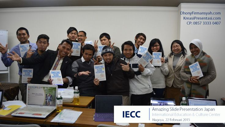 Workshop Desain Slide Powerpoint Amazing Slide Presentation di Sakae, Nagoya Jepang 22 Februari 2015.