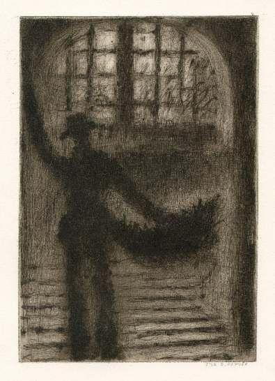 Bohuslav Reynek Schodiště / Stairway suchá jehla / dry point 24,5 x 16,9 cm, 1963, otisk z původní desky, opus G 516