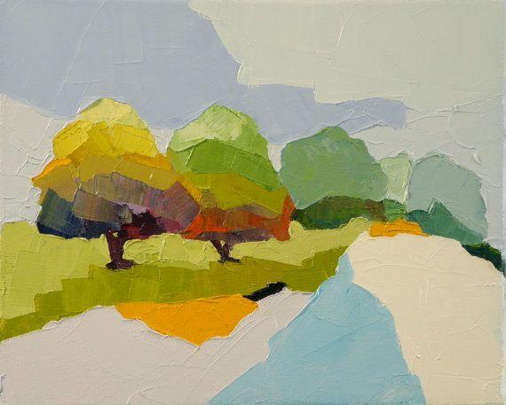 Happenstance Landscape Oil Painting 8x10 original by DonnaWalker