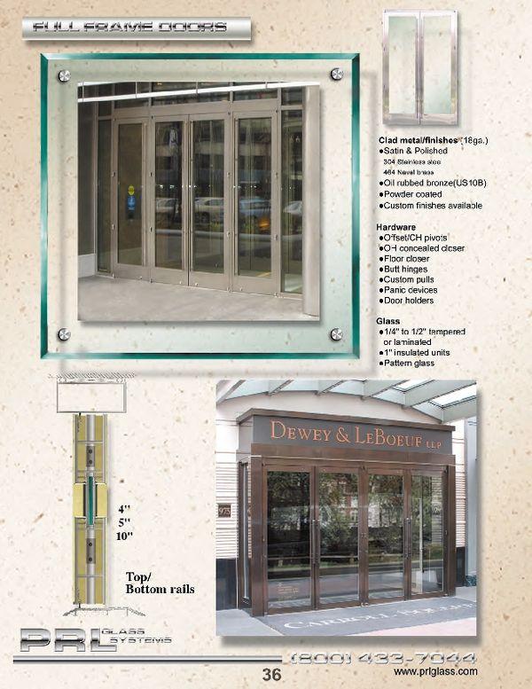 Full Framed Clad Doors Are Doors That Fully Frame A Lite Of Glass.