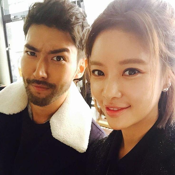 Siwon + Hwang Jung Eum