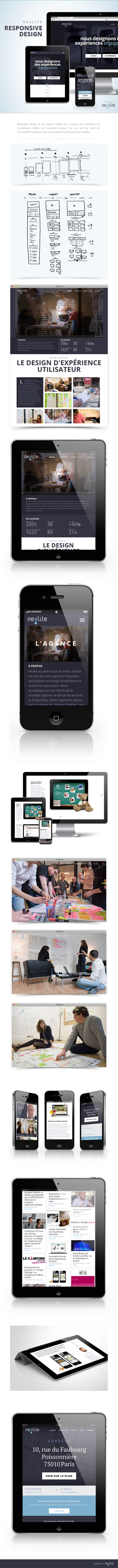 Responsive design of our agency website for a unique user experience on smartphones, tablets and computers screens.