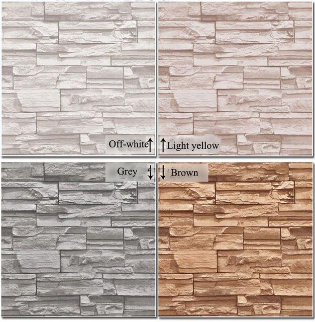 Vinyl Modern Vintage 3D effect Imitation Stone Brick Wall Wallpaper Retro Background Roll Brick Wall paper For Restaurant,loft