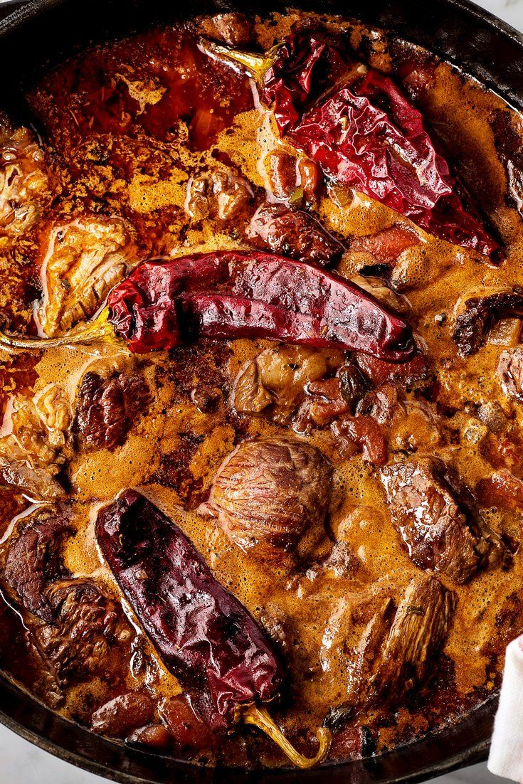 NYT Cooking: Every practiced American cook's recipe for chili is definitive and the best. A classic chili, the Texas bowl of red, is simply beef and hot peppers, simmered to perfection. But there's no one recipe for the dish and no incorrect one – at least if we're being honest with ourselves. You can make chili with beans; lamb or bison; venison, turkey or pork; with tomatoes or beer, with fresh chiles or ...