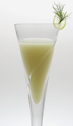 "Death in the Afternoon. According to Hemingway: ""Pour one jigger absinthe into a Champagne glass. Add iced Champagne until it attains the proper opalescent milkiness. Drink three to five of these slowly."""