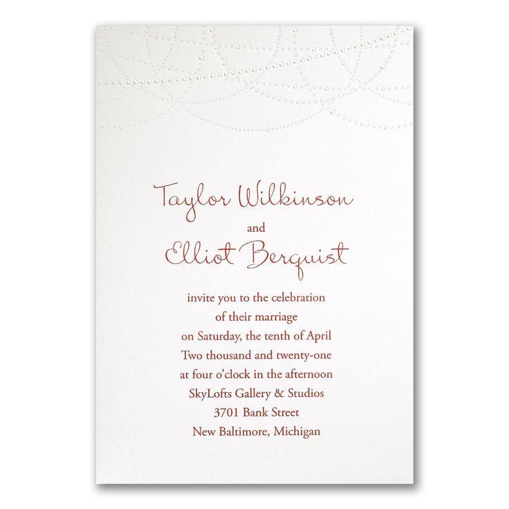 103 best Embossed Wedding Invitations images on Pinterest
