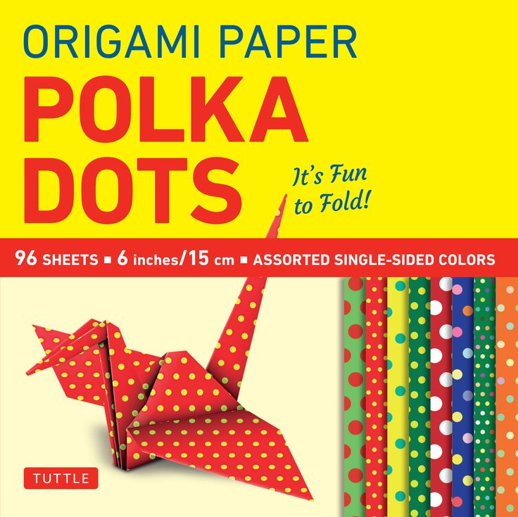 This origami pack contains 96 high-quality origami sheets printed with colorfully fun polka dot patterns.   These colorful patterns were chosen to enhance the creative work of origami artists and paper crafters. The pack contains 8 different designs, and there's enough paper here to assemble amazing modular origami sculptures, distribute to students for a class project, or put to a multitude of other creative uses.