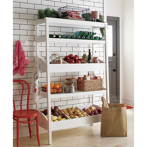 Seville White Open Shelf Unit in Bill Eastburn | Crate and Barrel