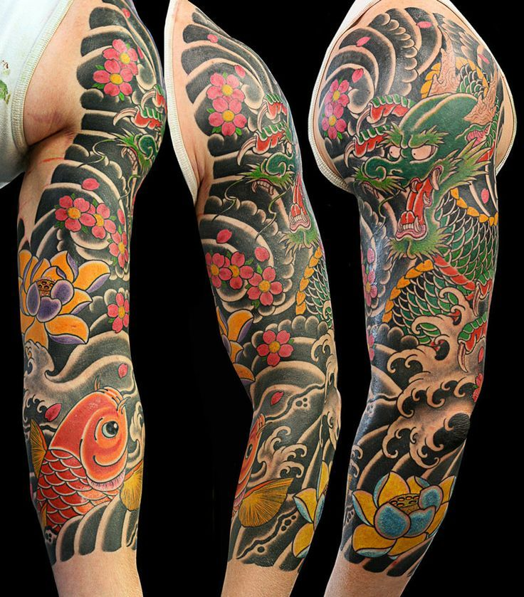 japanese dragon tattoo sleeve - Google Search …