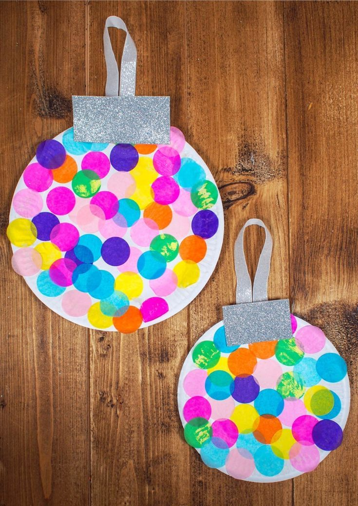 Paper Plate Baubles Giant Christmas Decorations