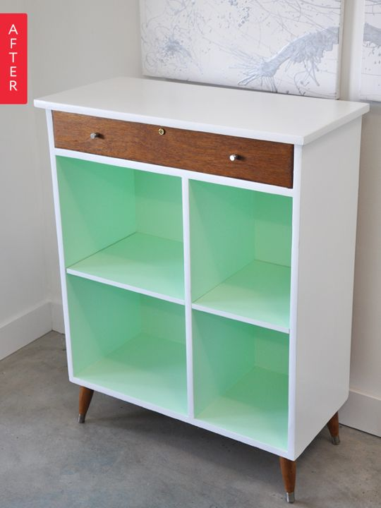 Before & After: Cabinet Gets a Cool Mint Makeover