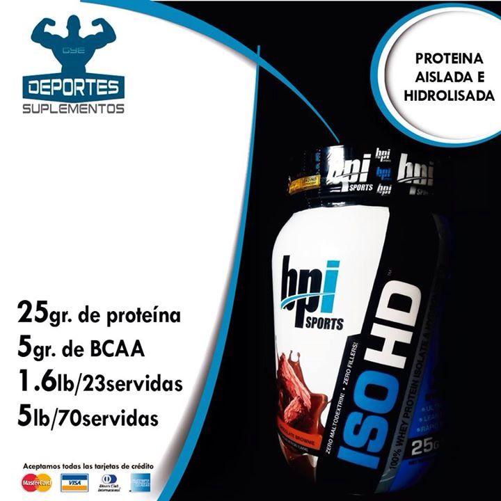 ISO HD de Bpi Sport una proteína aislada e hidrolizada de suero de leche ideal para construir músculos de roca